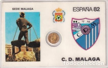 MONEDA OFICIAL CONMEMORATIVA MUNDIAL FÚTBOL ESPAÑA 82 ESTADIO LA ROSALEDA. MÁLAGA (Coleccionismo Deportivo - Documentos de Deportes - Otros)