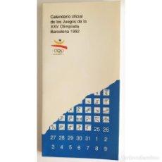 Coleccionismo deportivo: CALENDARIO OFICIAL JUEGOS OLÍMPICOS BARCELONA 92 OFFICIAL CALENDAR OLYMPIC FAMILY GAMES OLYMPIAD. Lote 277290373