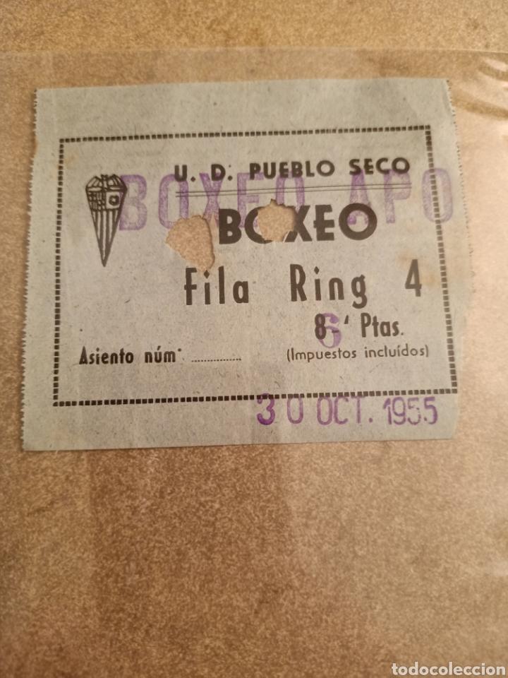 ENTRADA BOXEO AFICIONADOS 30 DE OCTUBRE DE 1955 (Coleccionismo Deportivo - Documentos de Deportes - Otros)