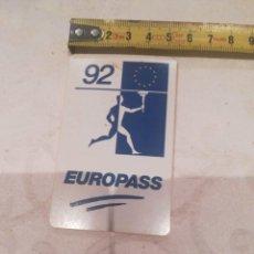 Coleccionismo deportivo: EUROPASS 92. Lote 277516798