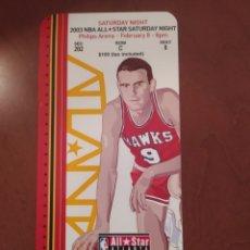 Coleccionismo deportivo: TICKET SIN USAR ALL STAR NBA SATURDAY ATLANTA 2003. Lote 277542593