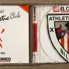Coleccionismo deportivo: EL HIMNO DEL ATHLETIC CLUB. CD CON LA FORMA DEL ESCUDO. ATHLETIC 1898-1998.. Lote 277641933