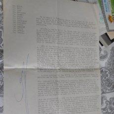 Collectionnisme sportif: ANTIGUA CARTA.DOCUMENTO.FUTBOL.NASTIC TARRAGONA.1972. Lote 278363348