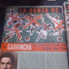 Coleccionismo deportivo: 2 RECORTES ARTÍCULO GARINCHA. REVISTA SEMANA 1175. 1962.. Lote 278834118