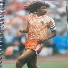 Coleccionismo deportivo: FICHA DE LAS SUPER ESTRELLAS DE MASTERFILE - EDICION INGLESA - RUUD GULLIT HOLANDA. Lote 280103798