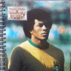 Coleccionismo deportivo: FICHA DE LAS SUPER ESTRELLAS DE MASTERFILE - EDICION INGLESA - JAIRZINHO CON SELLO BRASIL 70 PELE. Lote 280104023