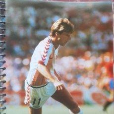 Coleccionismo deportivo: FICHA DE LAS SUPER ESTRELLAS DE MASTERFILE - EDICION INGLESA - MICHAEL LAUDRUP DINAMARCA. Lote 280104403