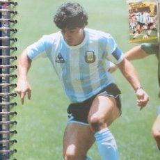 Coleccionismo deportivo: FICHA DE LAS SUPER ESTRELLAS DE MASTERFILE - EDICION INGLESA - CON SELLO DIEGO MARADONA ARGENTINA. Lote 280104898