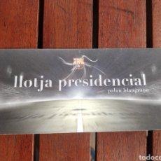 Colecionismo desportivo: INVITACIÓN A LLOTJA PRESIDENCIAL DEL PALAU BLAUGRANA DE BARCELONA. Lote 287343138