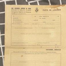 Coleccionismo deportivo: RARO PARTE DE LESIONES DE FÚTBOL SIN RELLENAR PERO FIRMADO. Lote 287954863