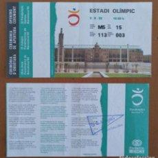 Coleccionismo deportivo: ENTRADA CEREMONIA APERTURA IX JUEGOS PARALIMPICOS DE BARCELONA 1992 ESTADI OLIMPIC. Lote 290814013
