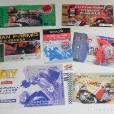Coleccionismo deportivo: GRAN LOTE ENTRADAS AL CIRCUITO JEREZ MOTO GRAN PREMIO DE ESPAÑA DEPORTE AÑOS 90 00- CEV 1998 1995 Y+. Lote 292586398