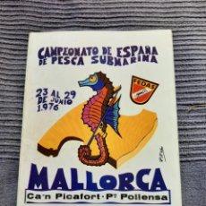 Coleccionismo deportivo: PROGRAMA CAMPEONATO DE ESPAÑA DE PESCA SUBMARINA 1976 MALLORCS. Lote 293994598
