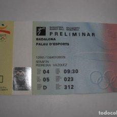 Colecionismo desportivo: ENTRADA OLIMPICA. Lote 295474973