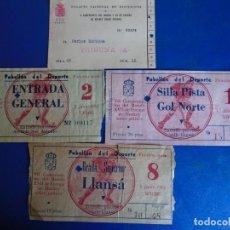 Coleccionismo deportivo: (FE-35)PASE Y 3 ENTRADAS X CAMPEONATO DEL MUNDO Y XX DE EUROPA DE HOCKEY SOBRE PATINES JUNIO 1951. Lote 295479733