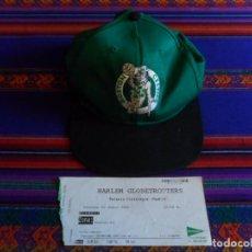 Coleccionismo deportivo: ENTRADA TICKET HARLEM GLOBETROTTERS PALACIO VISTALEGRE MADRID 2005. REGALO CAP GORRA BOSTON CELTICS.. Lote 296583818