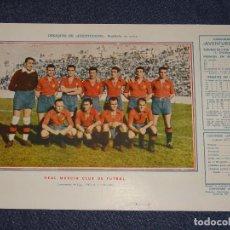 Coleccionismo deportivo: (M) REAL MURCIA CLUB DE FUTBOL 1945 - 46 - OBSEQUIODE AVENTURERO, 32X22CM, BUEN ESTADO. Lote 297054993
