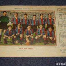 Coleccionismo deportivo: CLUB DE FUTBOL BARCELONA 1945 - 46 - OBSEQUIODE AVENTURERO, 32X22CM, SEÑALES DE USO. Lote 297055108