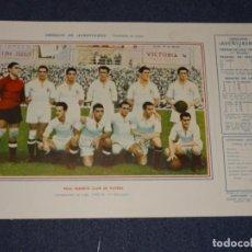 Coleccionismo deportivo: REAL MADRID CLUB DE FUTBOL - 1945 - 46 - OBSEQUIODE AVENTURERO, 32X22CM, BUEN ESTADO. Lote 297055218