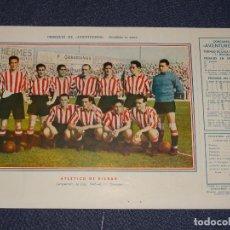 Coleccionismo deportivo: ATLÉTICO DE BILBAO - 1945 - 46 - OBSEQUIODE AVENTURERO, 32X22CM, BUEN ESTADO. Lote 297056548
