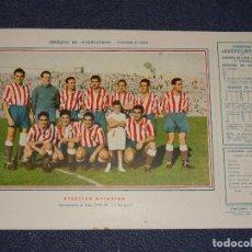 Coleccionismo deportivo: ATLETICO DE AVIACIÓN ( AT MADRID )- 1945 - 46 - OBSEQUIODE AVENTURERO, 32X22CM, BUEN ESTADO. Lote 297056718