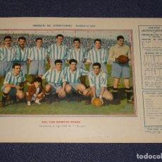 Coleccionismo deportivo: REAL CLUB DEPORTIVO ESPAÑOL - 1945 - 46 - OBSEQUIODE AVENTURERO, 32X22CM, BUEN ESTADO. Lote 297056848