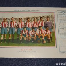 Coleccionismo deportivo: REAL GIJÓN - 1945 - 46 - OBSEQUIODE AVENTURERO, 32X22CM, BUEN ESTADO. Lote 297056938