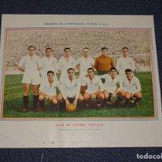 Coleccionismo deportivo: CLUB DE FÚTBOL SEVILLA - 1945 - 46 - OBSEQUIODE AVENTURERO, 32X22CM, RECORTADO. Lote 297057118