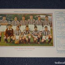 Coleccionismo deportivo: CLUB DEPORTIVO CASTELLÓN - 1945 - 46 - OBSEQUIODE AVENTURERO, 32X22CM, BUEN ESTADO. Lote 297057678