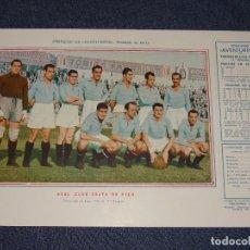 Coleccionismo deportivo: REAL CLUB CELTA DE VIGO - 1945 - 46 - OBSEQUIODE AVENTURERO, 32X22CM, BUEN ESTADO. Lote 297057773