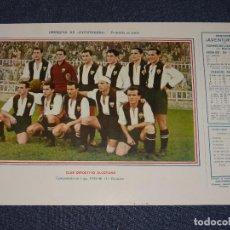 Coleccionismo deportivo: CLUB DEPORTIVO ALCOYANO - 1945 - 46 - OBSEQUIODE AVENTURERO, 32X22CM, BUEN ESTADO. Lote 297057903
