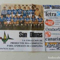 Coleccionismo deportivo: PEGATINA EQUIPO BALONMANO ADEMAR LA BAÑEZA LEÓN PUBLICIDAD PROMOCIONAL SAN DIMAS. Lote 297111403