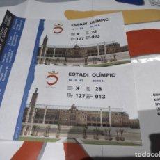 Coleccionismo deportivo: ENTRADAS CEREMONIA FINAL OLIMPIADAS 1992. Lote 297119688
