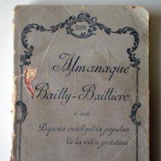 Enciclopedias antiguas: PEQUEÑA ENCICLOPEDIA POPULAR- ALMANAQUE BAILLY- BAILLIIERE. Lote 26500769