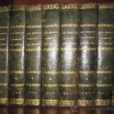 Enciclopedias antiguas: LOS HÉROES Y LAS MARAVILLAS DEL MUNDO. 1855. 8 TOMOS. Lote 27566880