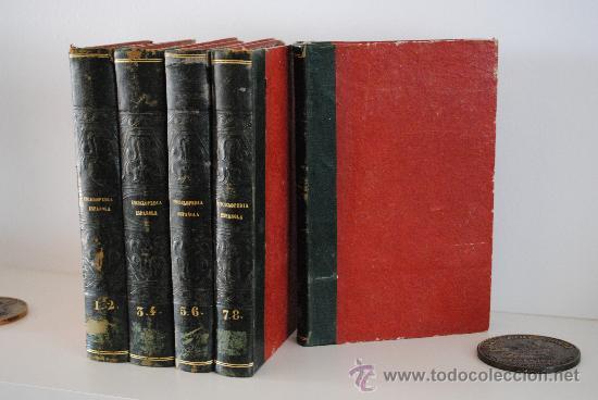1842.- BIBLIOFILIA. ENCICLOPEDIA ESPAÑOLA DEL SIGLO DIEZ Y NUEVE, O BIBLIOTECA COMPLETA DE CIENCIAS, (Libros Antiguos, Raros y Curiosos - Enciclopedias)