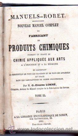Enciclopedias antiguas: ENCICLOPEDIE RORET, COLLECTION DES MANUELS RORET, SCIENCES ET ARTS, 18, PARÍS, 1843 - 1875 - Foto 21 - 32077844
