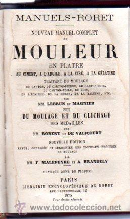 Enciclopedias antiguas: ENCICLOPEDIE RORET, COLLECTION DES MANUELS RORET, SCIENCES ET ARTS, 18, PARÍS, 1843 - 1875 - Foto 11 - 32077844