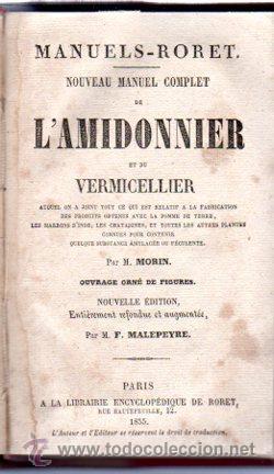 Enciclopedias antiguas: ENCICLOPEDIE RORET, COLLECTION DES MANUELS RORET, SCIENCES ET ARTS, 18, PARÍS, 1843 - 1875 - Foto 10 - 32077844