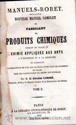 Enciclopedias antiguas: ENCICLOPEDIE RORET, COLLECTION DES MANUELS RORET, SCIENCES ET ARTS, 18, PARÍS, 1843 - 1875 - Foto 4 - 32077844