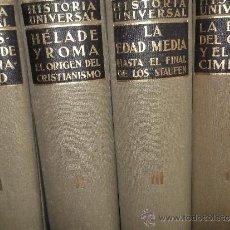 Enciclopedias antiguas: ESPECTACULAR PRIMERA EDICIÓN ENCICLOPEDIA DE HISTORIA UNIVERSAL ESPASA CALPE LOS 1O TOMOS 1932-1936. Lote 34234319