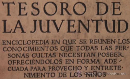 Enciclopedias antiguas: TESORO DE LA JUVENTUD – TOMO XV - Foto 2 - 34251816