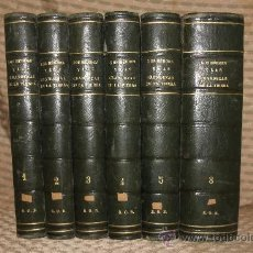 Enciclopedias antiguas: 1870- LOS HEROES Y LAS GRANDEZAS DE LA TIERRA. VV.AA. EDIT JOSE CUESTA. 1854. 6 TOMOS. Lote 34450699