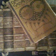 Enciclopedias antiguas: 7 TOMOS. SUELTOS A 25. DICCIONARIO SALVAT. INVENTARIO DEL SABER HUMANO. PRINCIPIOS SIGLO XX. . Lote 35461781