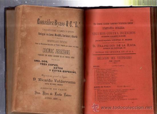 Enciclopedias antiguas: GUÍA OFICIAL COMERCIAL DESCRIPTIVA DE CÁDIZ Y SU PROVINCIA PARA 1905, AZOPARDO ALCÓN - Foto 4 - 35527270