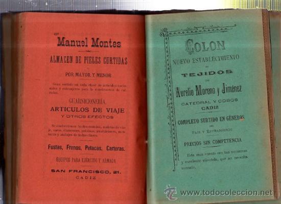 Enciclopedias antiguas: GUÍA OFICIAL COMERCIAL DESCRIPTIVA DE CÁDIZ Y SU PROVINCIA PARA 1905, AZOPARDO ALCÓN - Foto 3 - 35527270