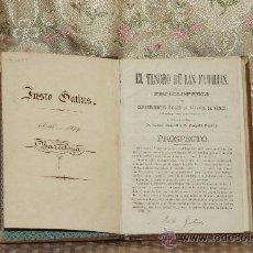 Enciclopedias antiguas: 3064- EL TESORO DE LAS FAMILIAS. RAFAEL BURGELL. EDIT. JUSTO GATIUS. 1874.. Lote 36982477