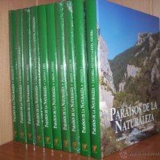Enciclopedias antiguas: PARAISOS DE LA NATURALEZA (10 TOMOS) EDICIONES RUEDA. Lote 40875309