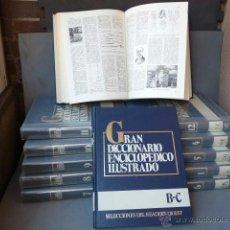Enciclopedias antiguas: GRAN DICCIONARIO ENCICLOPEDICO ILUSTRADO. (12 VOLUMENES). Lote 41634903