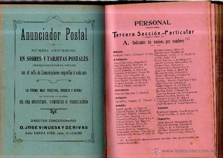 Enciclopedias antiguas: GUÍA OFICIAL COMERCIAL DESCRIPTIVA DE CÁDIZ Y SU PROVINCIA. D. ARANGO Y AYALA. CÁDIZ. 1906. - Foto 2 - 42448992